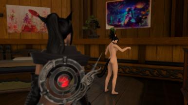 Inspecting her body